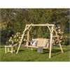 White Cedar Swing and Coffee Table Set