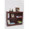 "Essentials Laminate Bookcase, 72""H Mahogany Laminate, 1"" thick adj shelves"