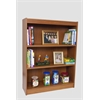 "Essentials Laminate Bookcase, 60""H Medium Oak Laminate, 1"" thick adj steel reinforced shelves"