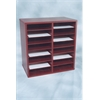 "24 COMPARTMENT Laminate Literature Organizer, 40.5""W x 17""H x 12""D, Mahogany Laminate"