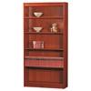"""Excalibur heavy duty shelf 72""""H wood veneer bookcase, California Medium Oak"""