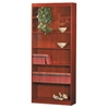 "Excalibur heavy duty shelf 84""H wood veneer bookcase, California Medium Oak"