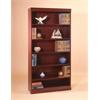 "Jefferson traditional wood veneer bookcase heavy duty shelf, 30"" H Medium Cherry"