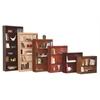 "Contemporary 60""H wood veneer bookcase, Vintage Walnut"