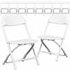 10 Pk. Kids White Plastic Folding Chair