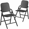 2 Pk. HERCULES Series Black High Density Folding Melody Band/Music Chair