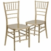 2 Pk. HERCULES PREMIUM Series Gold Resin Stacking Chiavari Chair