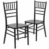2 Pk. HERCULES Series Black Wood Chiavari Chair