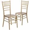2 Pk. HERCULES Series Gold Wood Chiavari Chair