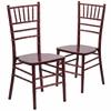 2 Pk. HERCULES Series Mahogany Wood Chiavari Chair