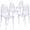 4 Pk. Ghost Side Chair in Transparent Crystal
