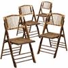 4 Pk. American Champion Bamboo Folding Chair