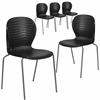 5 Pk. HERCULES Series 551 lb. Capacity Black Stack Chair