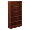 "basyx by HON BL Series Bookcase   5 Shelves   32""W x 13-13/16""D x 65-3/16""H   Medium Cherry Finish"