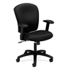basyx by HON HVL220 Mid-Back Task Chair | Center-Tilt, Tension, Lock | Adjustable Arms | Black Fabric