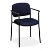 basyx by HON HVL616 Stacking Guest Chair | Fixed Arms | Navy Fabric