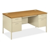 "HON Metro Classic Double Pedestal Desk | 2 Box / 2 File Drawers | 60""W x 30""D x 29-1/2""H 