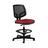 HON Volt Mesh Back Task Stool | Extended Height, Footring | Crimson Fabric