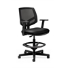 HON Volt Mesh Back Task Stool   Extended Height, Footring   Black SofThread Leather