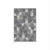 "Azure Rectangular 5'2""x7'2"" Area Rug, Grey"