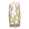 Gold Branches Hurricane Candleholder - Large