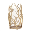 Gold Branches Hurricane Candleholder - Small