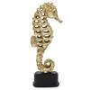 Gold Seahorse Statue