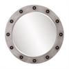 Jax Round Industrial Mirror