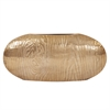 Textured Gold Oval Vase - Medium