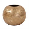 Textured Gold Round Vase - Medium