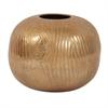 Textured Gold Round Vase - Large