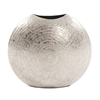 Frosted Silver Metal Vase Small