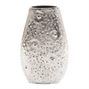 Moon Rock Silver Aluminum Vase - Small