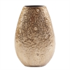 Moon Rock Gold Aluminum Vase - Medium