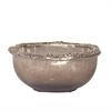 Matte Nickel Aluminum Glass Bowl - Medium