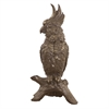 Antiqued Bronze Cockatoo Sculpture