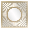 Zia Square Gold Mirror