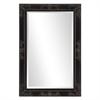 Queen Ann Rectangular Black Mirror