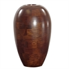 Mahogany Wood Vase Large