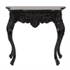 Overton Glossy Black Baroque Table