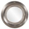 Christian Round Silver Mirror