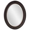 Nero Black Oval Mirror