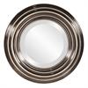 Val Round Nickel Mirror