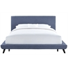 Nixon Blue Linen Bed in King