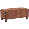 Richmond Upholstered Rectangular Bench in Tomato