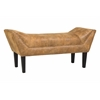 Morgan Topstitch Nailhead Bench in Bomber Jacket Pinto