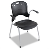 BALT Circulation Series Stacking Chair, Black, 25 x 23-3/4 x 34