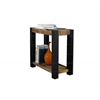 Accent Table - Black / Distressed Reclaimed-Look Top
