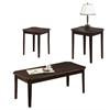 Table Set - 3Pcs Set / Cappuccino Cherry Veneer