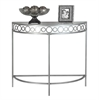 """Accent Table - 36""""L / Silver Metal Hall Console"""